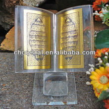 crystal islamic gift items,unique gold holy quran crystal gifts ornament