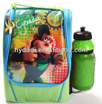 High quality backpack with water bottle for kids
