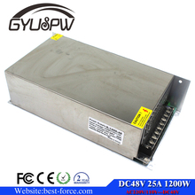 1200W 48V 25A Single Output Switching power supply Driver Transformers 110V 220V AC to DC smps For CNC Machine DIY LED CCTV