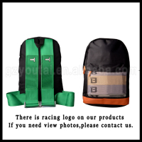 Racing Harness Backpack JDM Racing Backpack Bag Green Harness,Brown Bottom Canvas Backpack