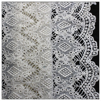 Latest design net surface Lace embroidery for wedding dress