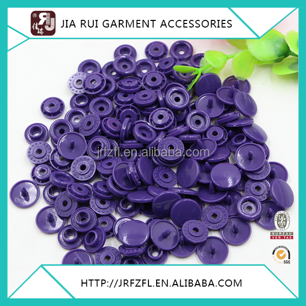 High quality all types of cloth plastic jean snap button