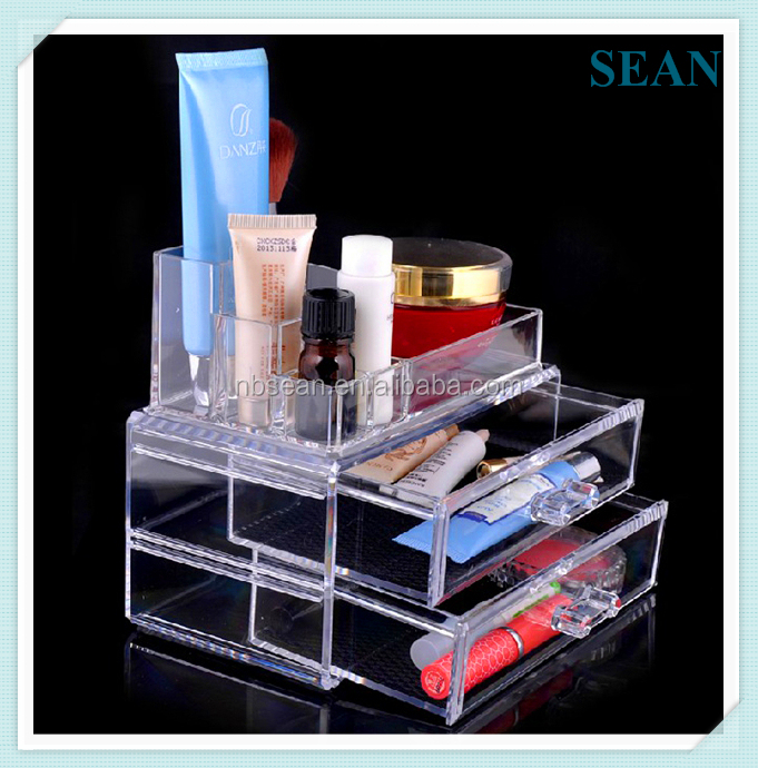 Multifunctional lucite makeup organizer