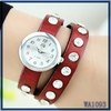 Alibaba china supplier hot selling african wrist watch stainless steel watch case leather bracelet fashion woman quartz watch