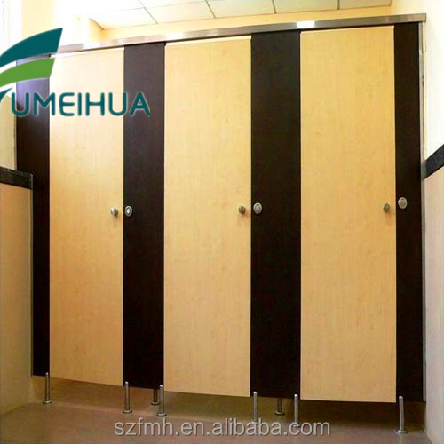 Customize luxury phenolic toilet cubicle partition door with 304 ss lock