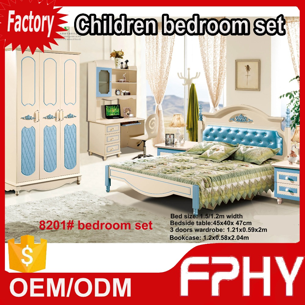 Home Furniture FPHY Manufactuer 82 Series Bedroom Set Classic Design back bed of leather