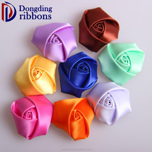 Excellent quality wholesale the boutique rose flowers making satin ribbon bows for garment/webbing decoration