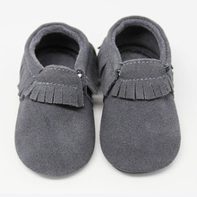 Soft Leather Fringe Baby Moccasins Suede Baby Shoes