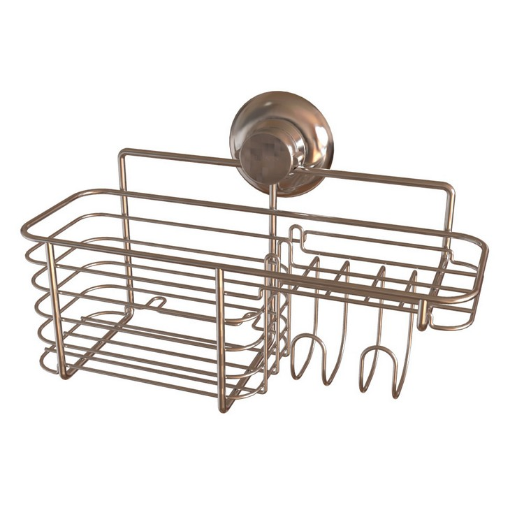 Bathroom Shower Caddy Suction Combo Basket
