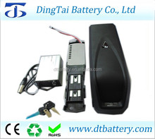 lithium ion 36v 20ah 10s6p hailong down tube ebike battery with 3A charger