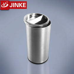 JINKE 2016 New Invention Commercial Aluminum Waste Container for Lobby and Hotel
