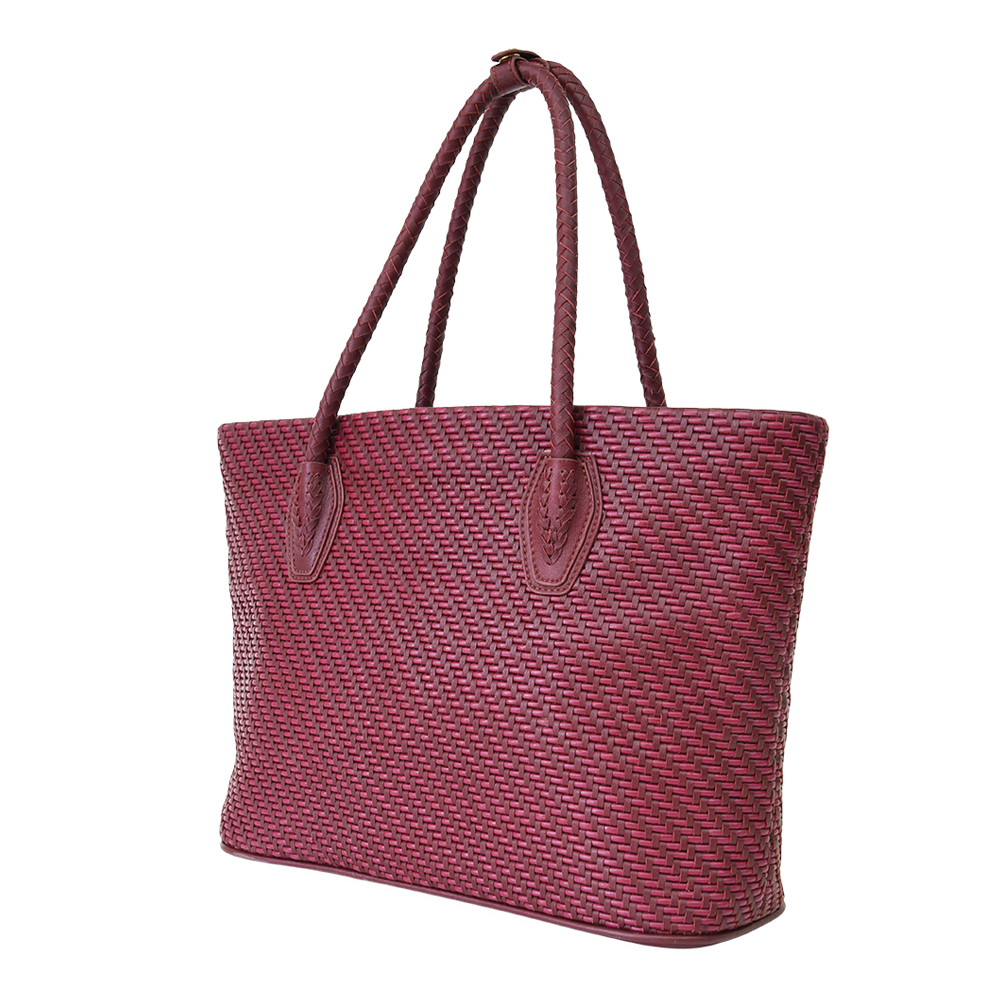Handcrafted Weave Soft Lambskin Cowhide Women Purses and Handbags Ladies Tote Bags