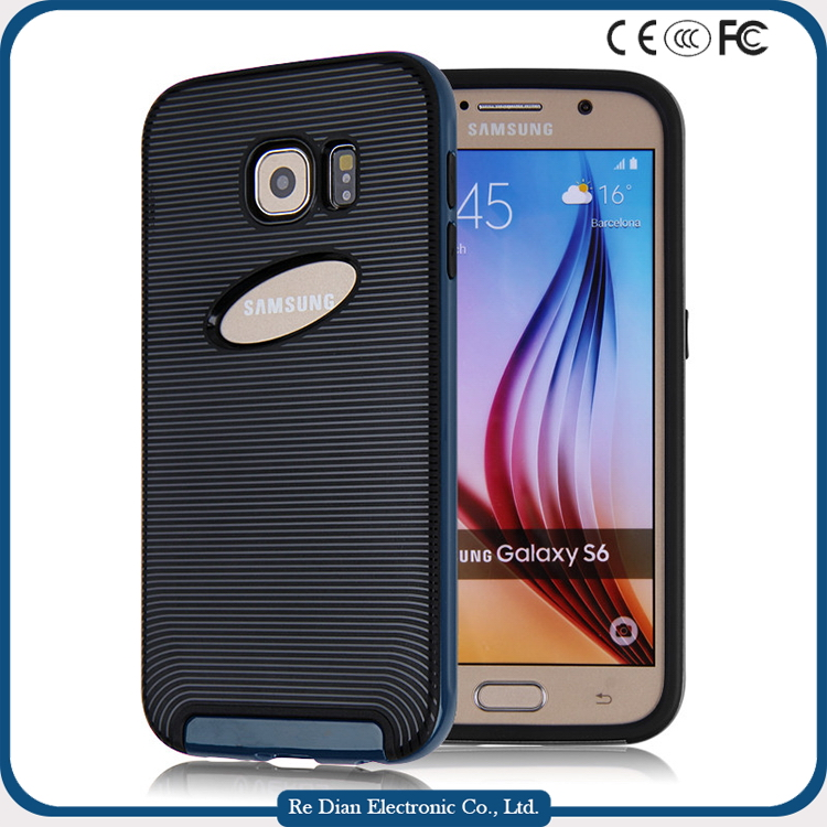 Best Selling Full Protective Armor Shock-proof Rugged TPU PC Bumper 3in1 Hybrid Combo Soft Mobile Phone Case for samsung s6