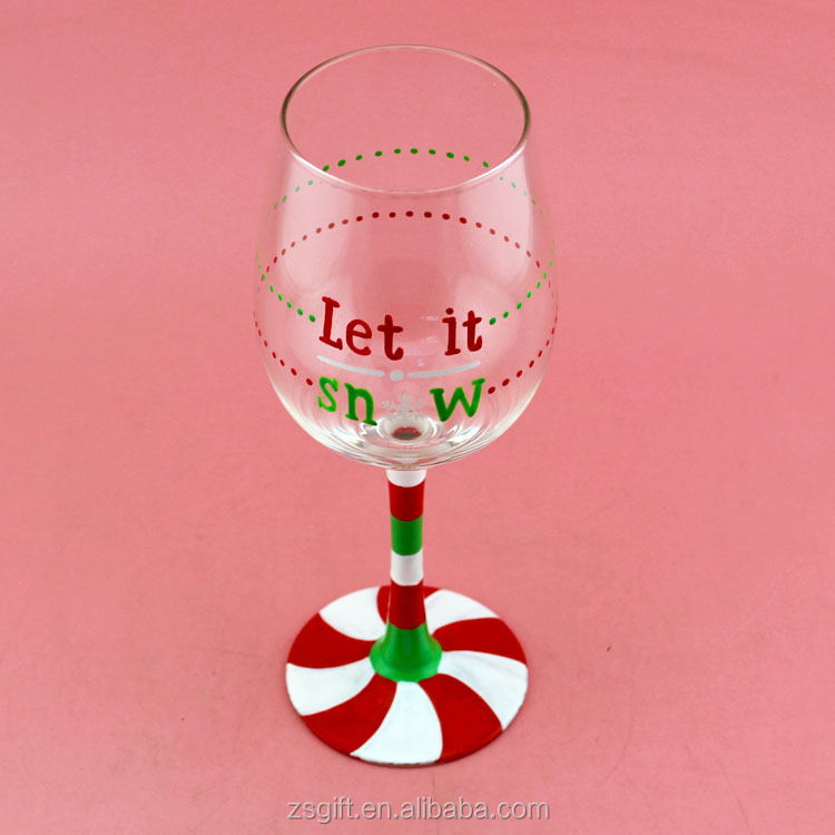 clear sublimation wine glass/personalized wine glass hand blown crystal red wine glass,stemware
