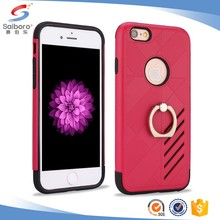 China manufacturer TPU+PC ring stand for iphone 6 case 6s