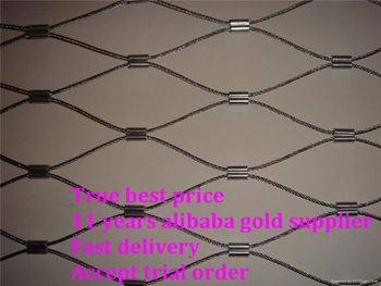 Flexible Stainless Steel Cable Mesh For Railing Balustrade Balcony Handrail Staircase Infills