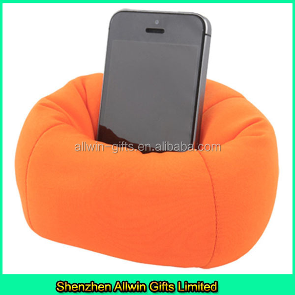 Fur hand mobile phone holder/fur bean bag cell phone holder