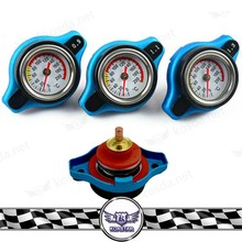 Heating Car Radiators Cap, Gauge Radiator Cap 1.3 BAR Big Head Uprated Blue