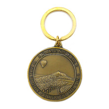 wholeasle free mould cost custom copper brass souvenir coin tokens maker with keychain