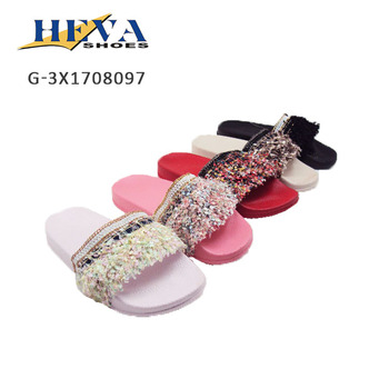 New Arrival Women's Beautiful Tassels Sandals Casual Beach Flats Slide Slippers