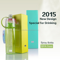 FDA approved,BPA free Customized logo available Water Mist Spray Bottle Fan
