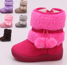2016 hot sale baby winter snow boots for girls and boys