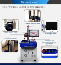Cheap price 10w 20w 30w 50w Fiber color Laser Wire engraving Marking Machine for sale