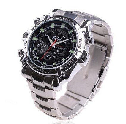 Waterproof Mini DV 12MP Full HD 1080P Watch Camera IR Night Vision DVR 16G B smart watch with camera