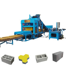 QT4-20 Fly Ash Semi Automatic Hydraulic Hollow Paving Slab Block Brick Production Line Making Machine In South Africa