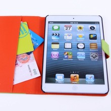 new products 2014 Functional wallet leather case for ipad mini alibaba tablet accessories