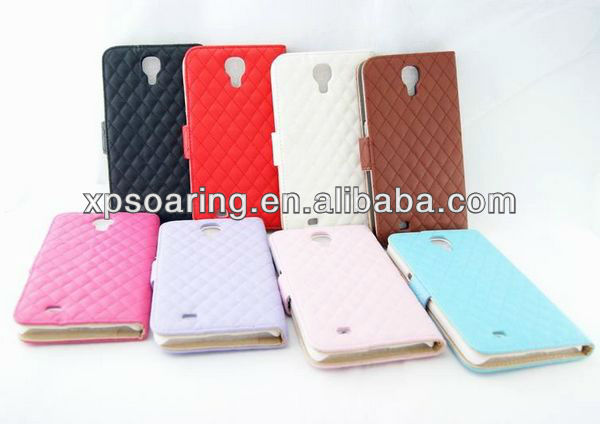 Quilt wallet leather case pouch for Samsung Galaxy Mega 6.3 i9200