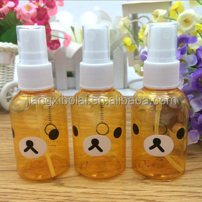 High Quality Teddy Bear PET Plastic Mist Spray Bottle Perfume Bottle