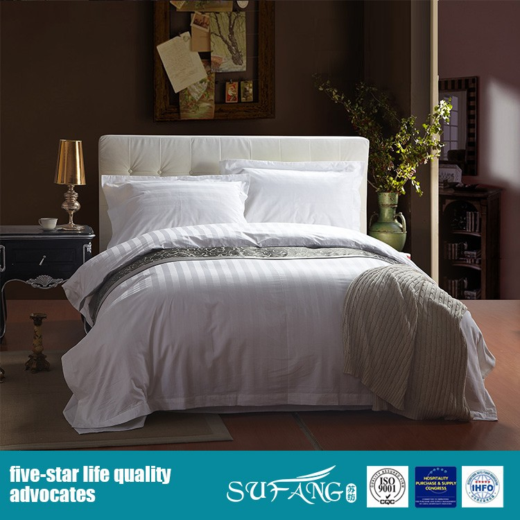 Wholesale 100 Cotton White Hotel Bedding Collection