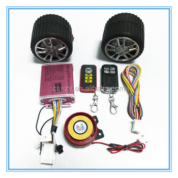 Motorcycle Alarm System Wheeled MP3 FM Audio