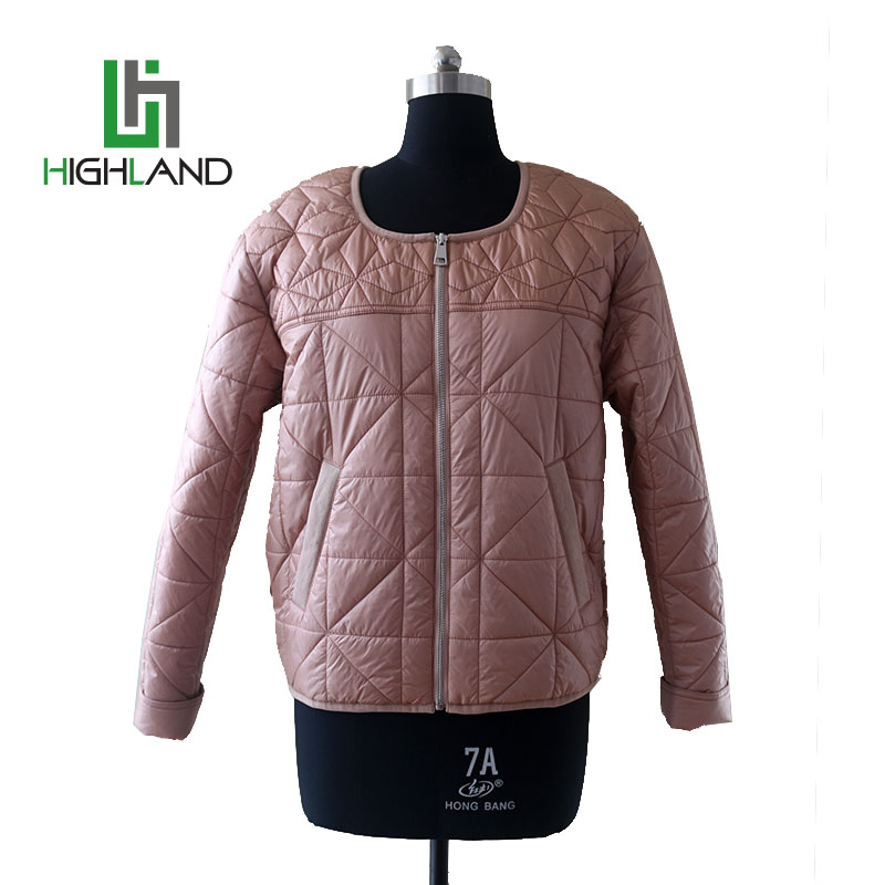 Manufacturer Cheap Winter Warm Folder Jacket Short Comfortable Round Neck Quilting Down Coat For Women