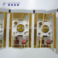 plastic packing chocolate translucent colorful printed film in roll