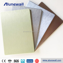 Gold Silver Grey Brushed Interior Decorative ACM Aluminum Plastic Cladding Panels Sheet