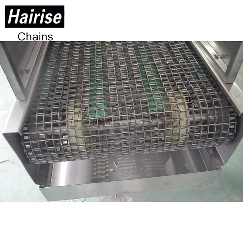 Hairise 20% cost saving stainless steel flat flex wire mesh conveyor belt