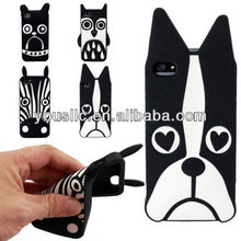 High quanlity 3D animal style soft silicon gel mobile phone case For Iphone 4/4s