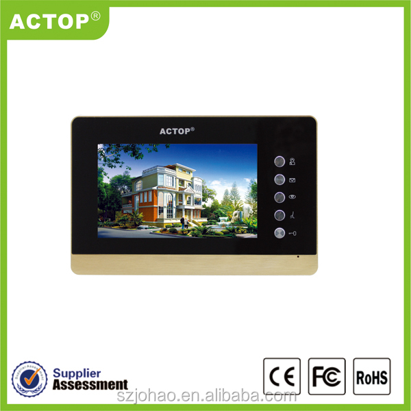 Shenzhen factory ACTOP multi stories video intercom rj45 with POE switch power supply