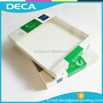 Custom High Quality white paper box with pvc window paper display box