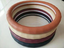 Semi pu and textile material steering wheel cover