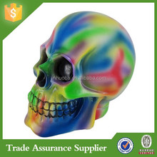 Resin Personalized Human Skull Piggy Bank Money Boxes