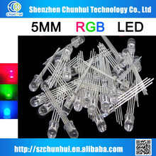 5mm multicolor rgb led diode common cathode
