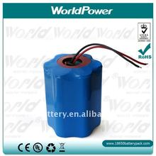 Manufacturer CGR18650 12v 5800mAh lithium-ion battery pack for torch