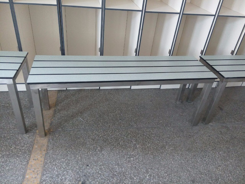 aogao compact hpl patio bench for outdoor
