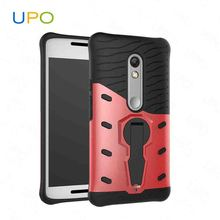 [UPO] 2017 wholesale Shockproof kickstand for Moto x play phone case Stand armor 2 in 1 phone case for Moto x play
