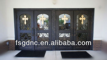 church style Wrought Iron Entrance Door