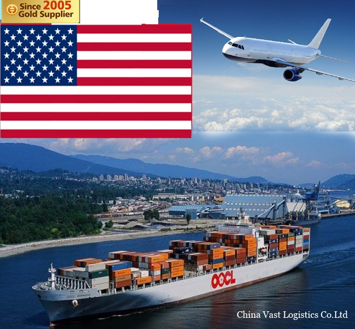 International cheap fast logistics express delivery cargo sea freight dropshipping FBA from beijing etc china to USA amazon