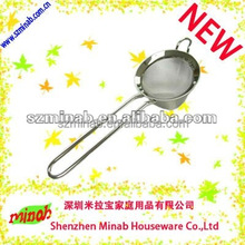 diameter 10cm stainless steel mesh strainer /colander with handle
